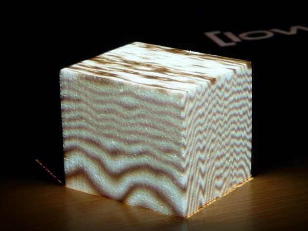 Projecting a 3D procedural wood texture onto foam
